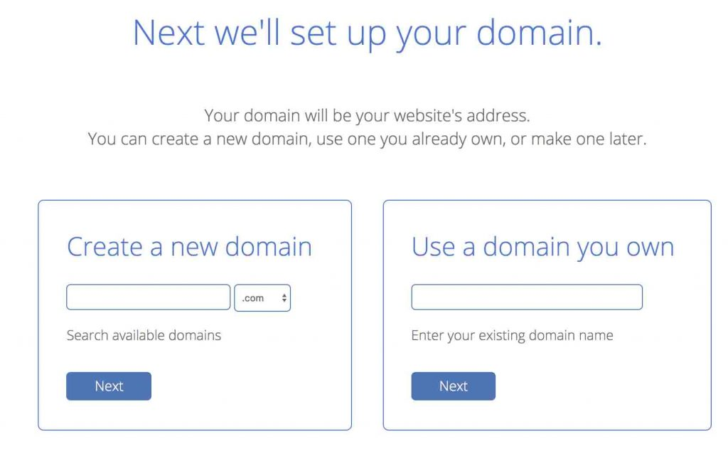 Select domain name