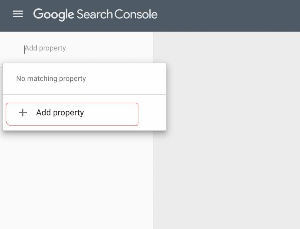 Add Property to Google